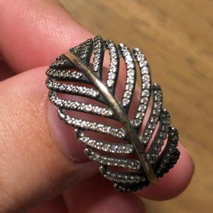 Sterling Silver Pandora Feather Ring